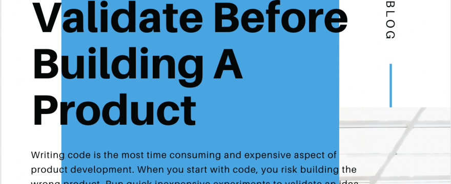 3 Things That You Must Validate Before Building a Product